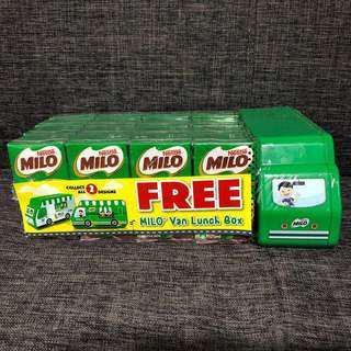 16 X Milo UHT Packet Drink 125ml **FREE MILO VAN LUNCH BOX**