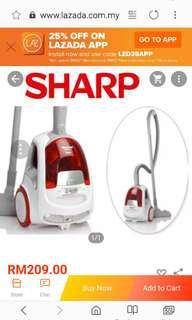 Sharp Bagless Vacuum