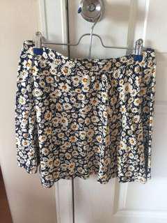 Forever21 Floral Skater Skirt