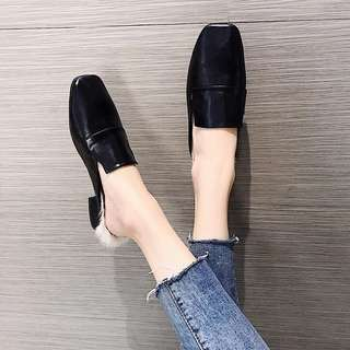 Pre-order Korean style Fur loafers