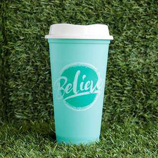 ☕ STARBUCKS STATEMENT CUP - BELIEVE BLUE GREEN TALL CUP