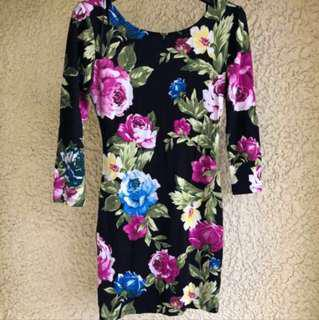 📍SALE📍F21 Floral Bodycon Longsleeve Dress