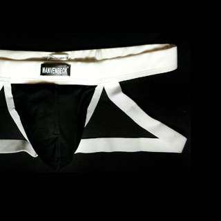MANVENBECK Cotton Sports Jockstrap BLACK 32 - 38""