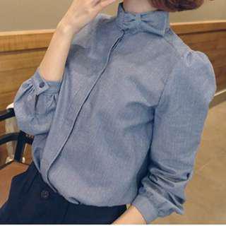 Blue vintage blouse