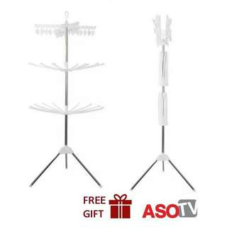 🔥HOT ITEM🔥ASOTV 3 Tier Foldable Clothes Drying Rack / Ampaian Penyidai Baju