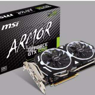 GeForce GTX 1060 Armor 6GB Display Card