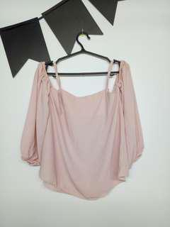 Nude Pink Off Shoulder