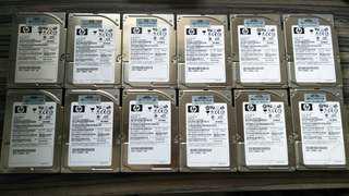 """USED 2.5"""" HP 72GB SAS 10K RPM HDD"""