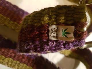 100% hemp belt EUC purple green