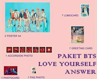 Paket BTS Love your self 'Answer'