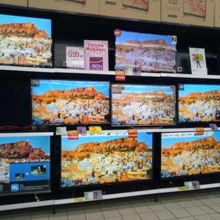 LED TV berbagai merk proses 3 menit free 1x angsuran