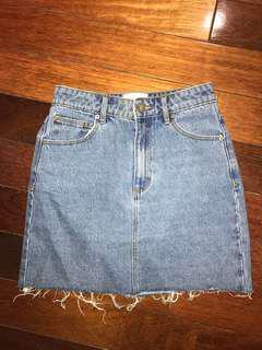 Abrand Denim Skirt