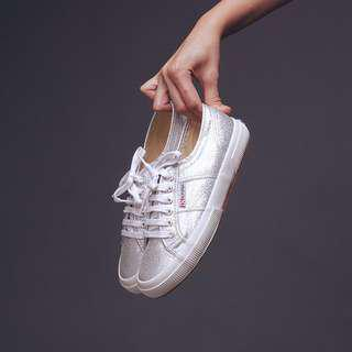 Superga Rare Metallic Silver Sneakers