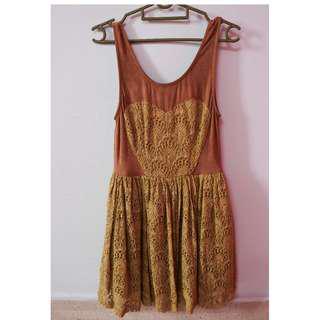 Brown Heart Dress