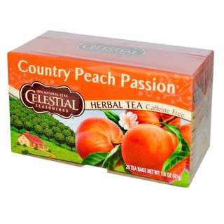 Celestial Seasonings, Herbal Tea, Country Peach Passion, Caffeine Free, 20 Tea Bags, 1.4 oz (41 g)