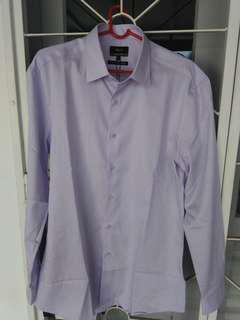 New G2000 100% cotton purple Formal Shirt. Slim fit M size