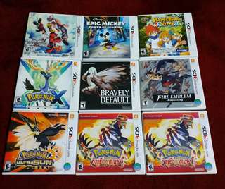 For Sale or Trade 3DS Games