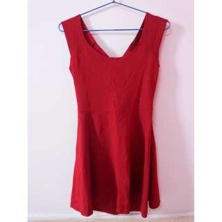 Red Bethan Skater Dress