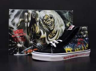 "Skate-Hi Vans x Iron Maiden Collab Original ""The Number Of The Beast"" Series"