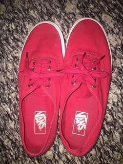 Selling my Red Vans shoe