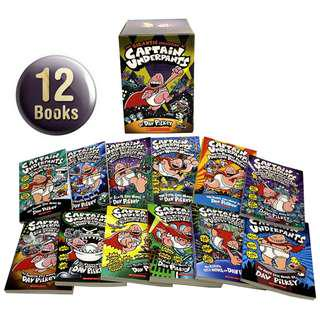 🚚 Captain Underpants (12 books) Collection Boxset Gift ( All Paperback Books and Brand New )
