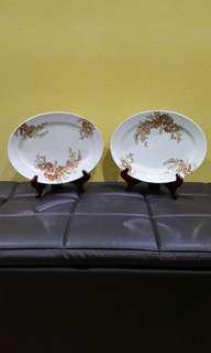 """Vintage Oval Plate 12"""" kopitiam Japan"""