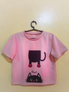 Pink Crop Top (Cat)
