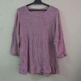 Purple Knitwear Korean Style