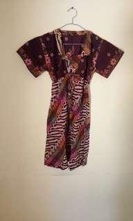 Dress batik size s