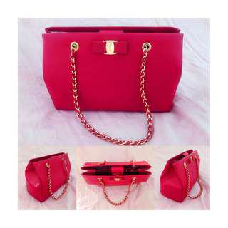 Salvatore Ferragamo Preloved Red Handbag