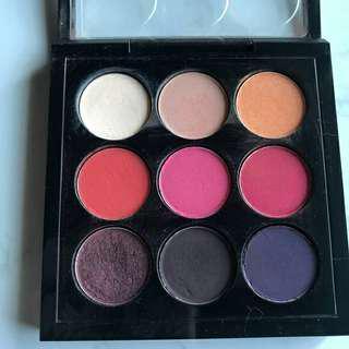 Mac palette eye shadow red hot