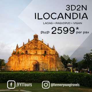 3D2N ILOCANDIA TOUR