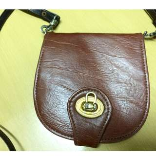 Leather Vintage Sling Wallet