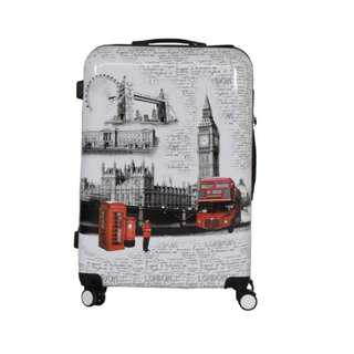 "24"" London Lightweight 4 Wheel Spinner Hard Shell Suitcase Luggage Trolley"