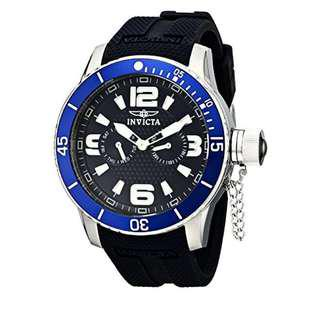 Invicta Specialty Navy Blue Textured Dial Silicone Strap 1791 Men's Watch
