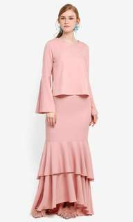 LUBNA flared sleeves top & skirt (Baju Kurung)