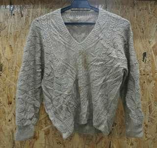 Beige Knitwear V-neck (defect)
