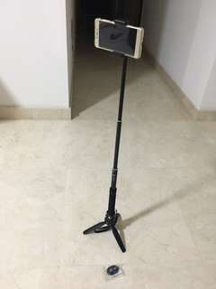 Brand New Selfie Stick (with tripod stand and remote) for Sale