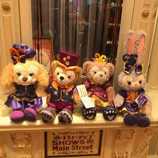 PO HK Disneyland Duffy, Shelliemay, Stella Lou and cookie Halloween plush toy
