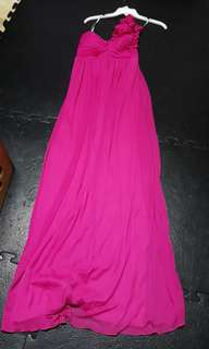 Fushia Pink Long Dress