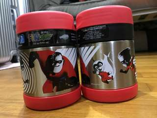 Brand New Thermos Funtainer Food Jar with Spoon - Incredibles