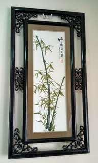 Embroided Bamboo Painting 竹绣画