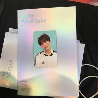 [Ready Stock] BTS LOVE YOURSELF 結 'Answer' F version SUGA Yoongi Photocard