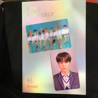 [Another Ready Stock] QYOP BTS LOVE YOURSELF 結 'Answer' L version Special Photocard and Yoongi SUGA Photocard
