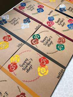 Customised Teacher's Day notebooks !!