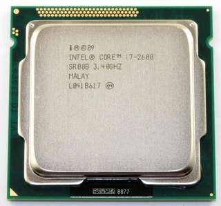 I7 2600 4C8T CPU
