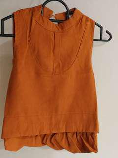 Cotton Orange brown top