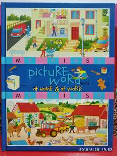 🚚 Picture Word Book - At home and at work