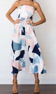 Abstract Geometric Tube Jumpsuit