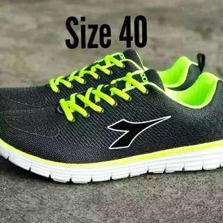 Sepatu Running Diadora Dillon Original Grey Lime Size 40
